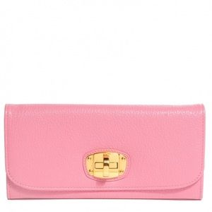 Miu Miu pink leather wallet